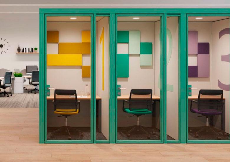 Sala - habitáculo con privacidad para concentración